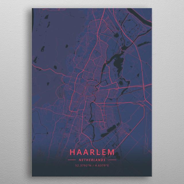 Haarlem, Netherlands metal poster