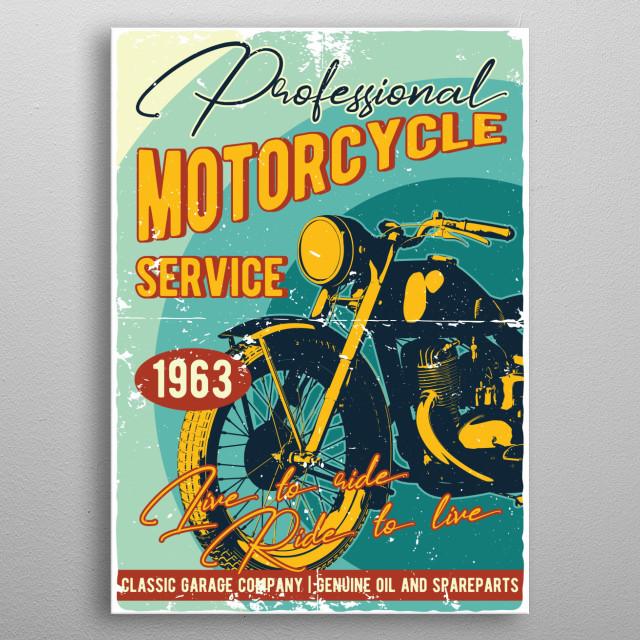 Moto metal poster