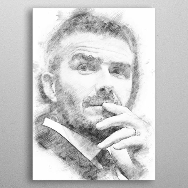 david Beckham metal poster