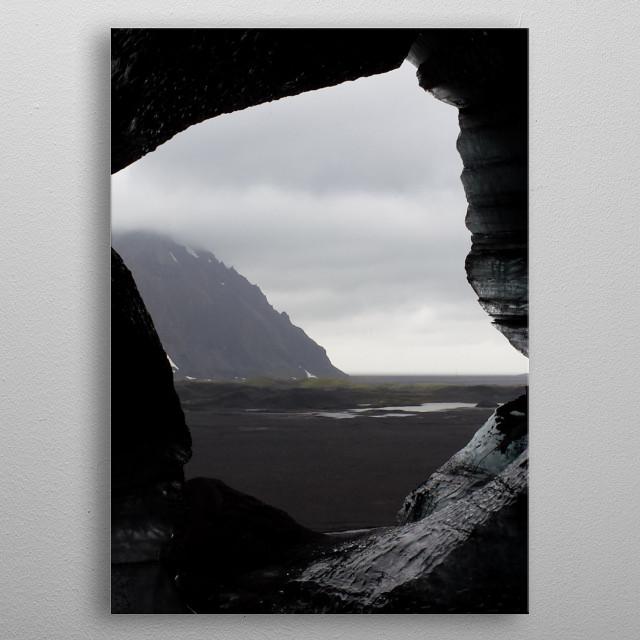 Katla Ice Cave near Vik in Iceland metal poster