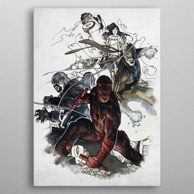 High-quality metal print from amazing Defenders Marvel 80Th Anniversary collection will bring unique style to your space and will show off your personality. metal poster