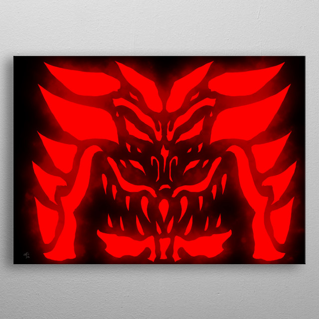An insignia designed with a dragon head in mind. made it somewhat menacing as well. metal poster