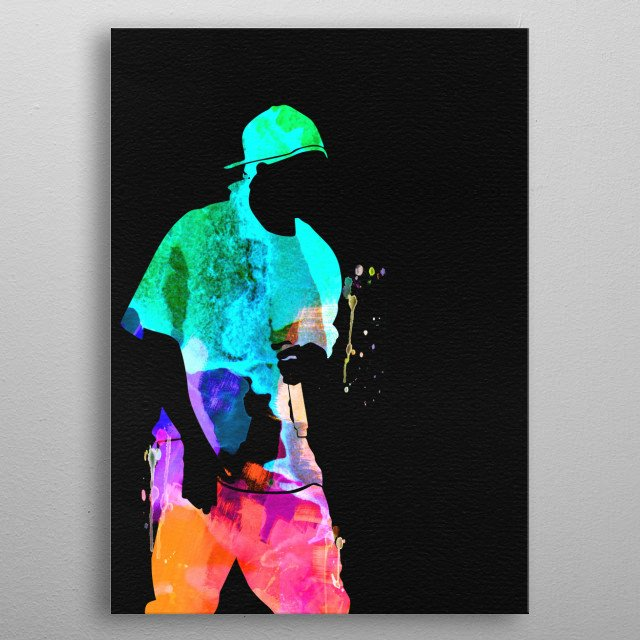Watercolor painting of legendary music icon 50 Cent. Please explore our Music Legend collection of displates. metal poster