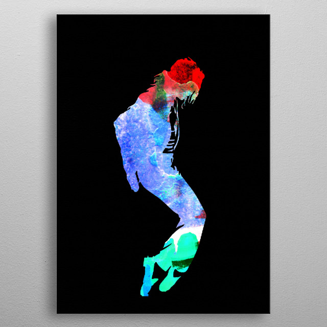 Watercolor painting of legendary music icon Michael Jackson. Please explore our Music Legend collection of displates. metal poster