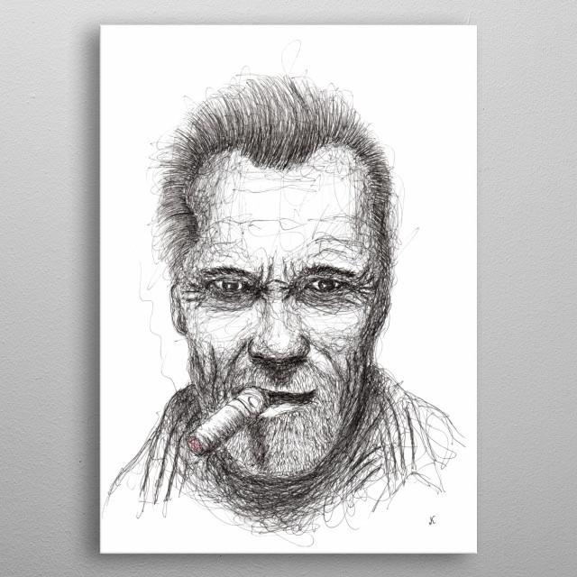 Arnold Alois Schwarzenegger is an American bodybuilder, entrepreneur and actor of Austrian origin, a Republican politician metal poster