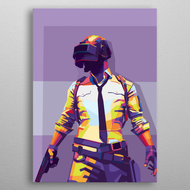 Pubgm on wpap style illustration  metal poster