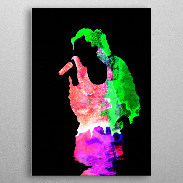 Watercolor painting of legendary music icon Gwen Stefani. Please explore our Music Legend collection of displates. metal poster