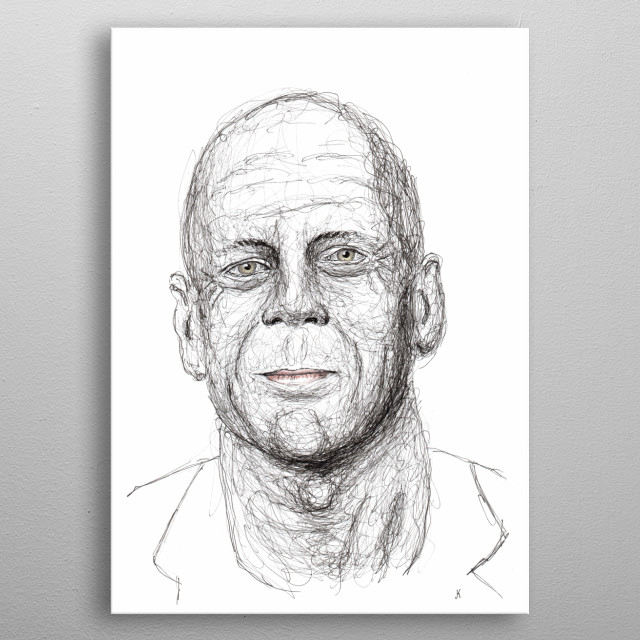 Walter Bruce Willis - American film actor, producer and musician. One of the highest paid actors in Hollywood. metal poster
