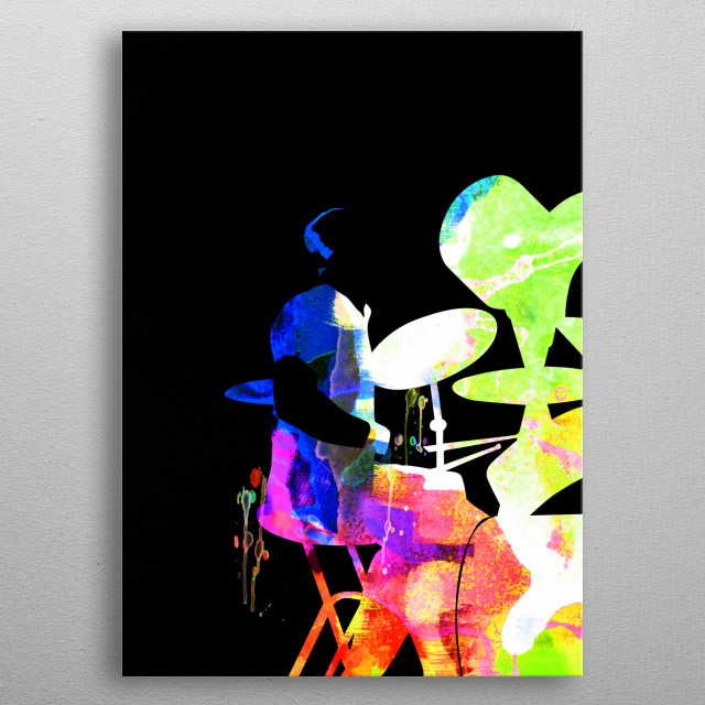 Watercolor painting of legendary music icon Phil Collins. Please explore our Music Legend collection of displates. metal poster