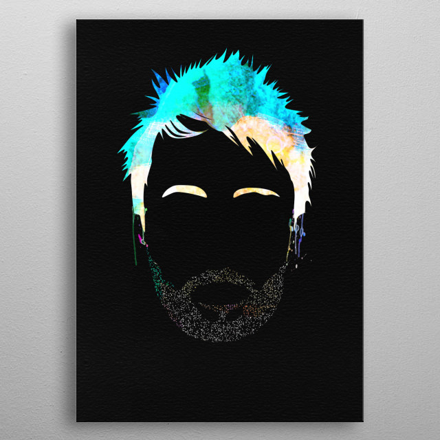 Watercolor painting of legendary music icon Thom Yorke. Please explore our Music Legend collection of displates. metal poster