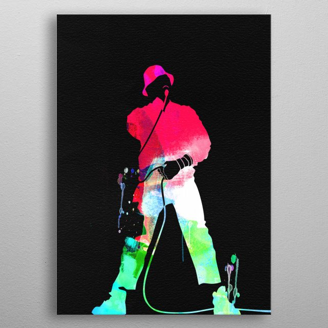 Watercolor painting of legendary music icon LL Cool J. Please explore our Music Legend collection of displates. metal poster