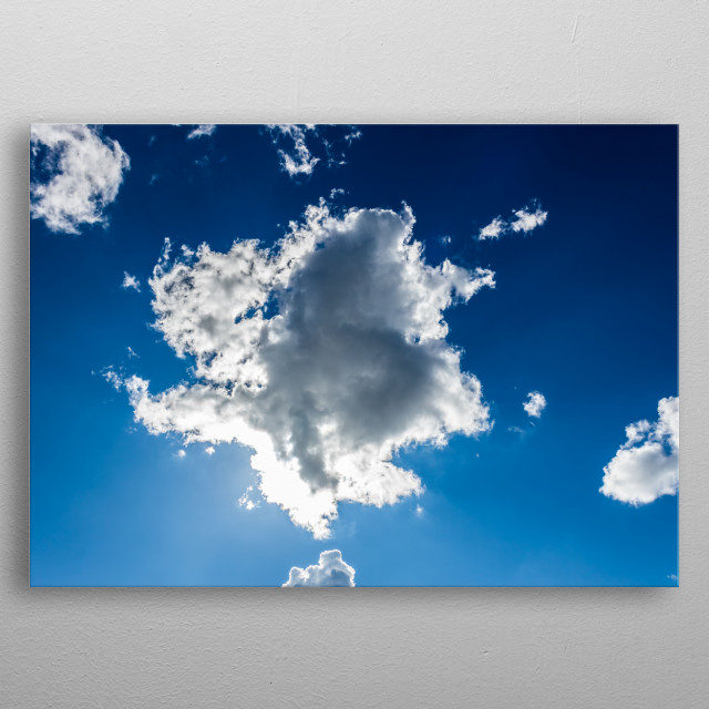 sky and clouds metal poster