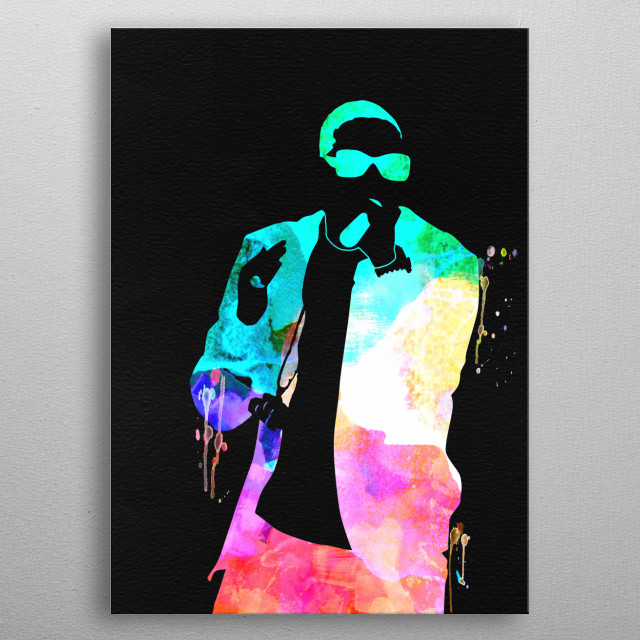 Watercolor painting of legendary music icon Ludacris. Please explore our Music Legend collection of displates. metal poster