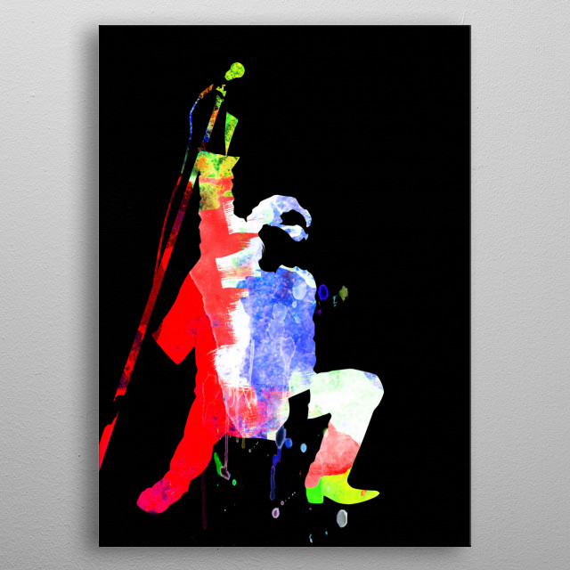 Watercolor painting of legendary music icon Bono. Please explore our Music Legend collection of displates. metal poster