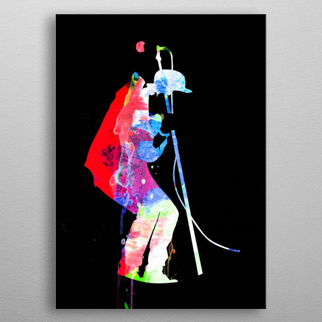 Watercolor painting of legendary music icon Tom Waits. Please explore our Music Legend collection of displates. metal poster