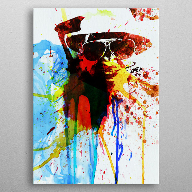 Watercolor painting celebrating one of our favorite icons Johnny Depp. Please explore our collection of fanart. metal poster