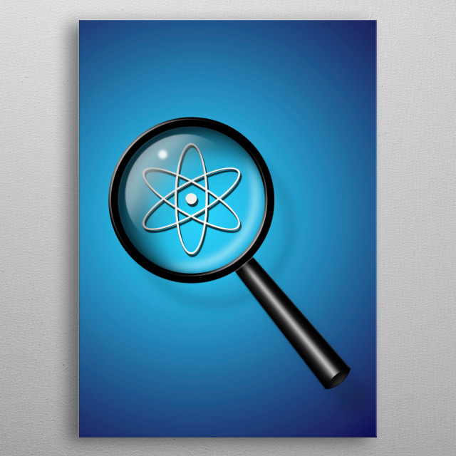 Nuclear Investigate metal poster