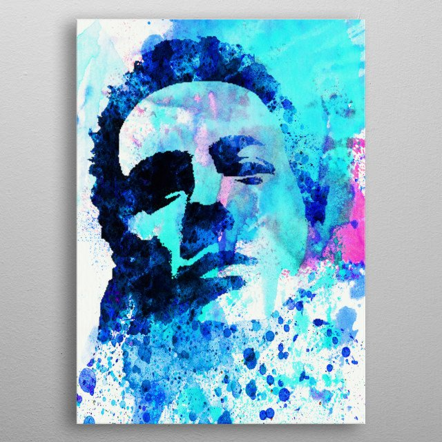 Watercolor painting of legendary music icon Joe Strummer. Please explore collection of fanart. metal poster