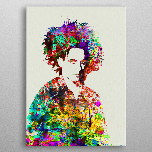 Watercolor painting of legendary music icon Robert Smith. Please explore collection of fanart. metal poster