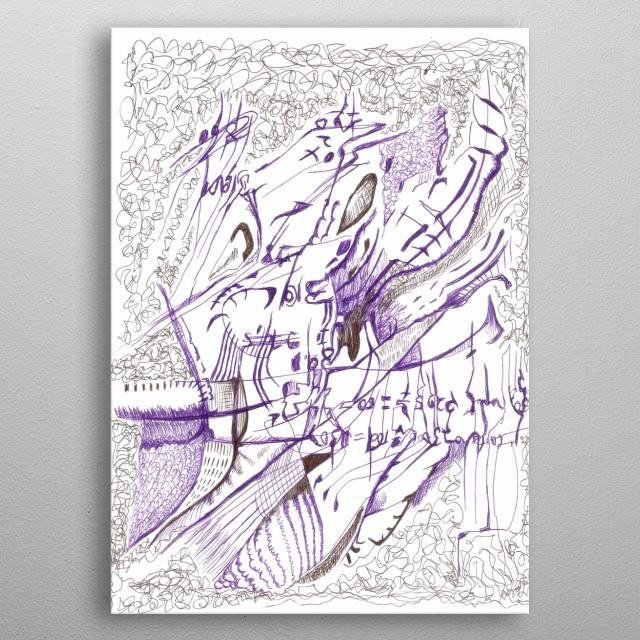 """Obra abstracta, que expresa la tragedia de el """"insumergible"""". metal poster"""