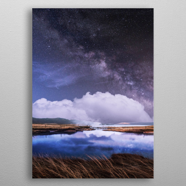 A magical milky way  metal poster