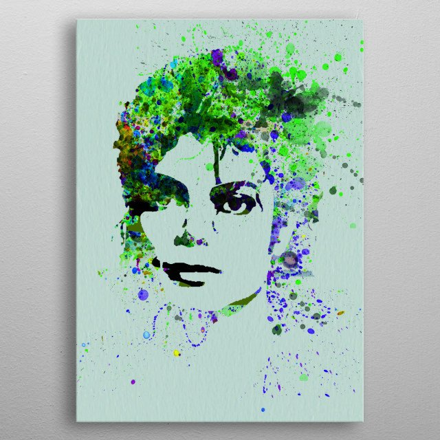 Watercolor painting of legendary music icon Michael Jackson. Please explore collection of fanart. metal poster