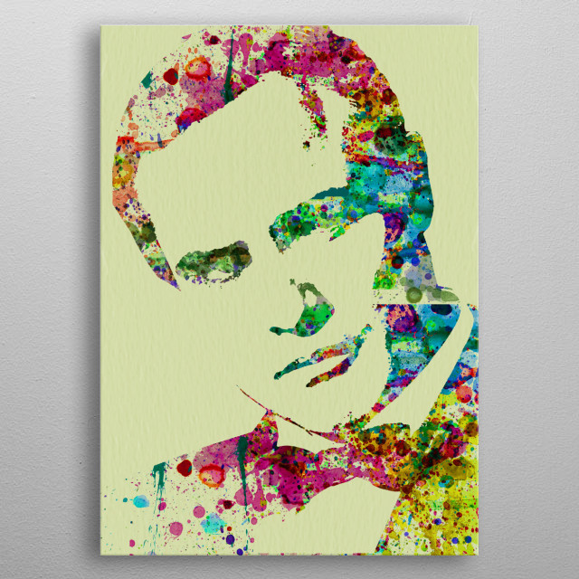 Watercolor painting celebrating one of our favorite movie stars Marlon Brando. Please explore our collection of fanart. metal poster