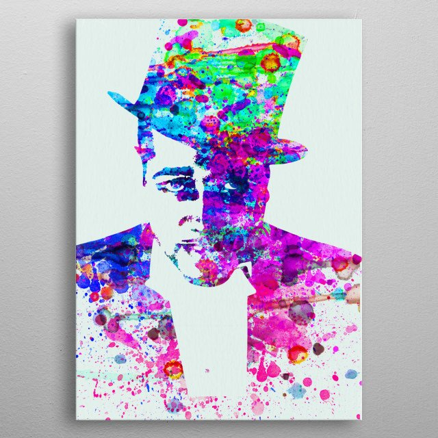 Watercolor painting of legendary music icon Duke Ellington. Please explore collection of fanart. metal poster