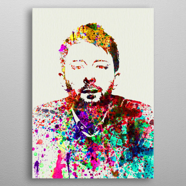Watercolor painting of legendary music icon Thom Yorke. Please explore collection of fanart. metal poster