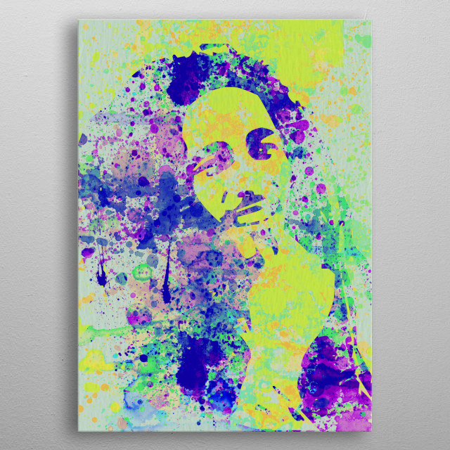 Watercolor painting of legendary music icon Bob Marley. Please explore collection of fanart. metal poster