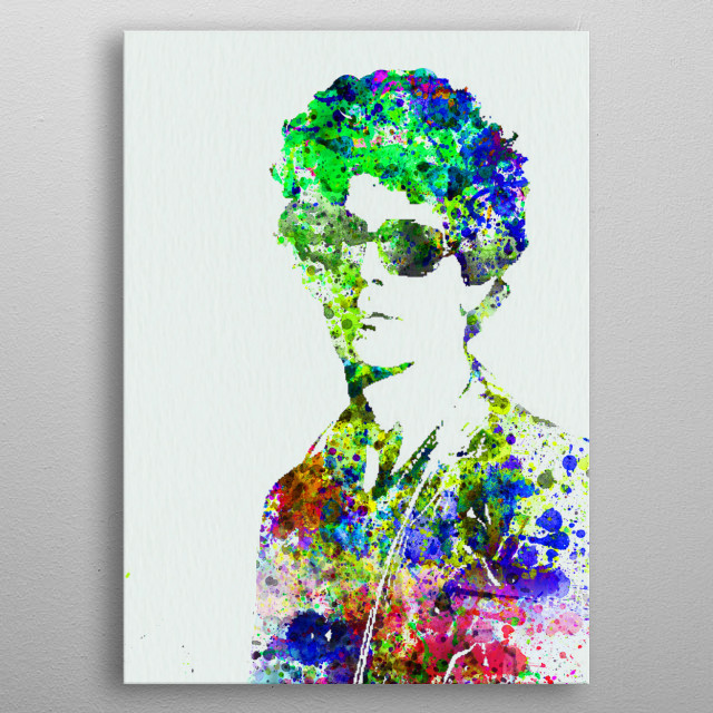 Watercolor painting of legendary music icon Bob Dylan. Please explore collection of fanart. metal poster
