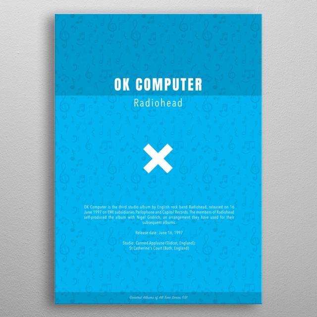 OK Computer Radiohead Album metal poster