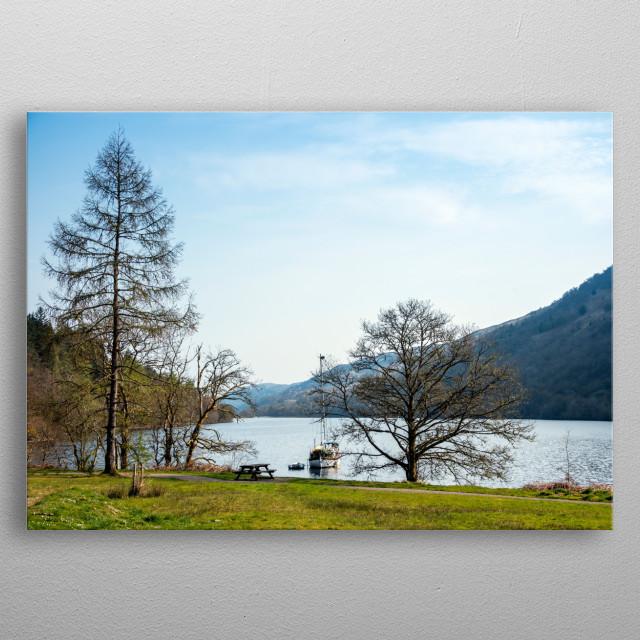 Landscape of Scotland, lochs, rivers metal poster