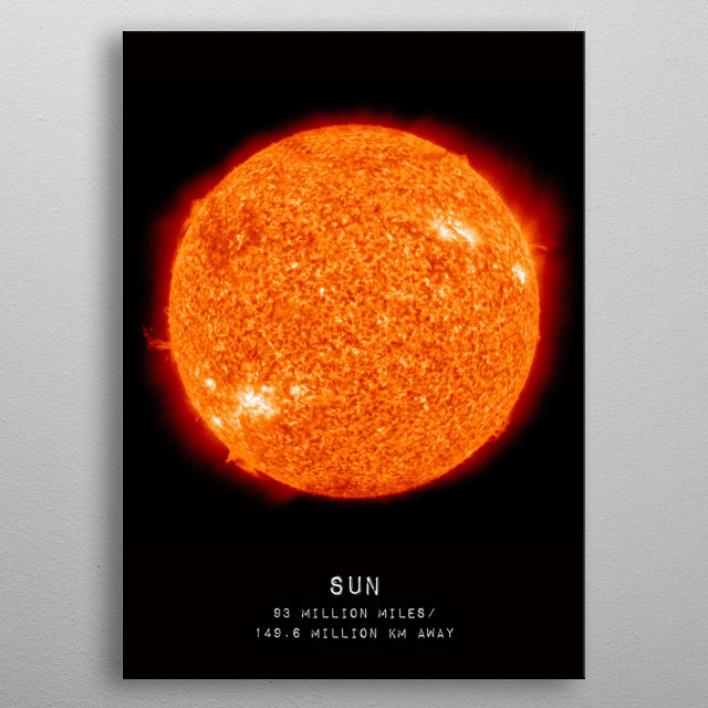 The Sun is the star at the center of the Solar System. Credit: NASA/SDO (AIA) metal poster