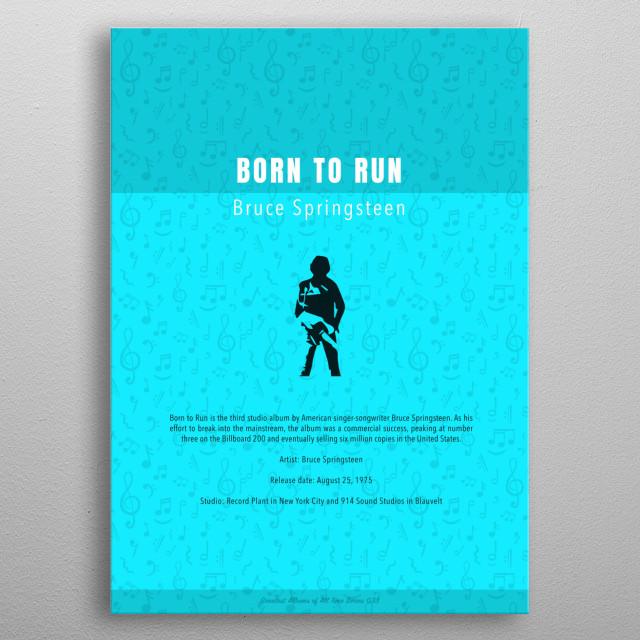 Born To Run Bruce Springsteen Album metal poster