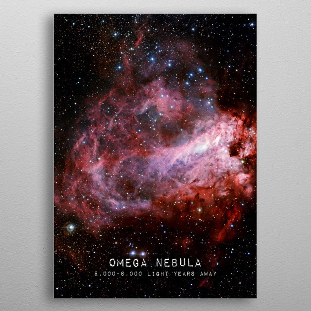 Omega Nebula photograph. Credit: European Southern Observatory (ESO) metal poster