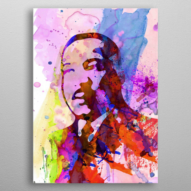 Watercolor painting celebrating one of our favorite icons Martin Luther King. Please explore our collection of fanart. metal poster