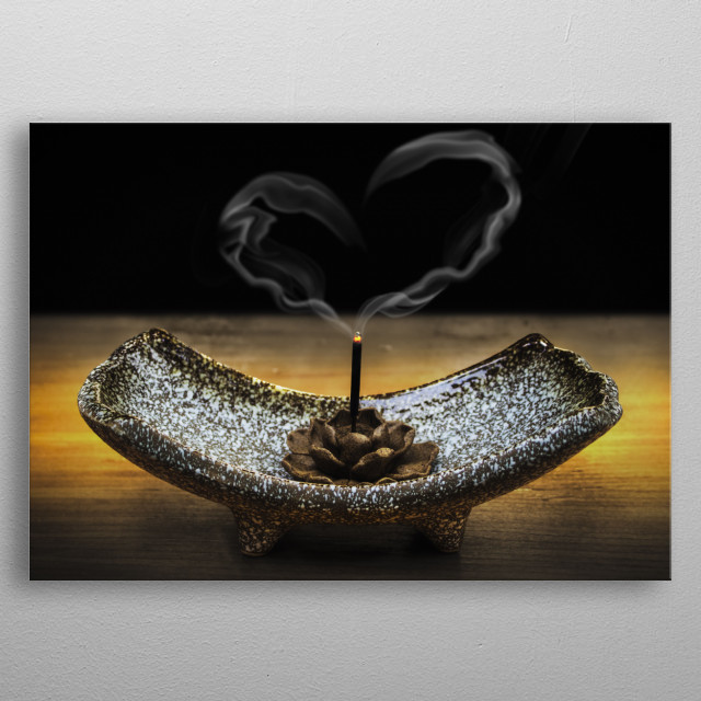 Photography perfect for decoration of a zen studio, health clinic, massagem room, yoga class, meditation lounge, etc metal poster