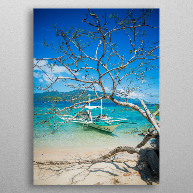 Coron Philippines, If you like what you see follow my travel adventures to 62 countries:  metal poster