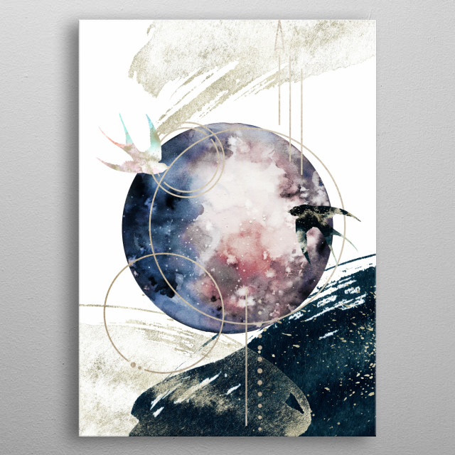 This is an ode to Nature, to Space, to the Universe, and everything that lies within and beyond. metal poster