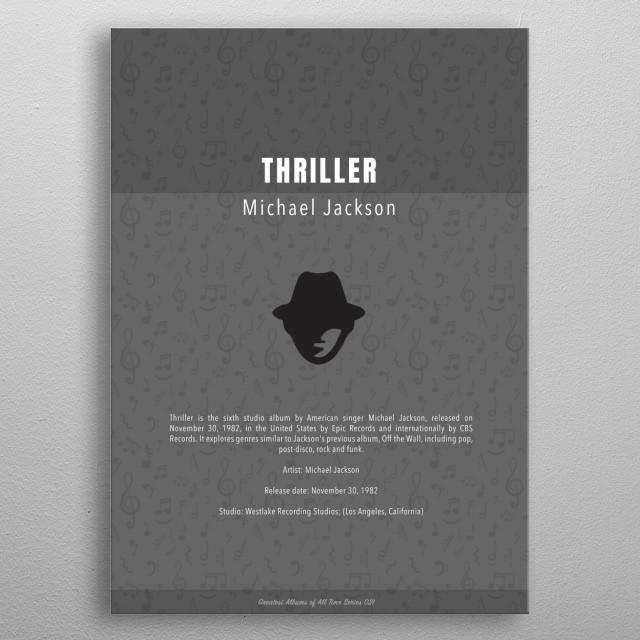 Thriller Michael Jackson Album metal poster