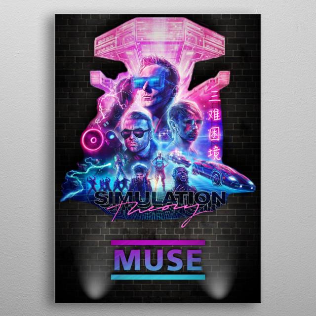 Muse  metal poster