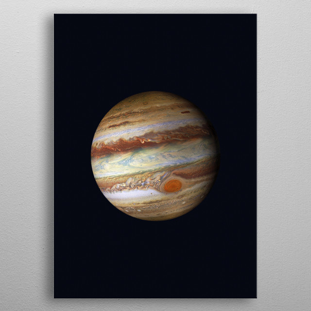 Close up photography of the amazing Jupiter. metal poster