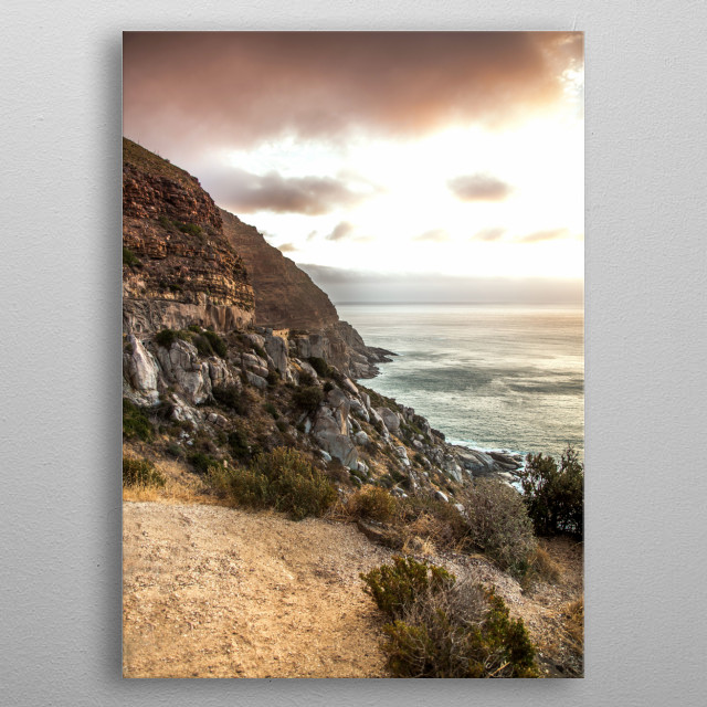 Chapmans Peak Cape Town If you like what you see follow my travels on  metal poster