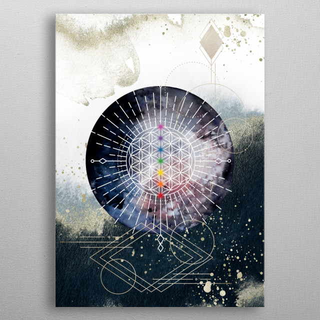 The light in me recognizes and honors the light in you.  metal poster