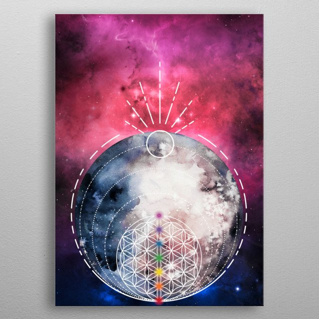 I am that I am. The universe exists within me, as much as I exist in the universe. (Soham) metal poster
