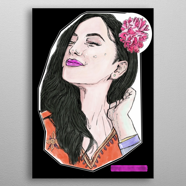 FANTASY THEMED COLLECTION OF BEAUTIFUL & ETHNIC GIRLS FROM ALL AROUND THE WORLD, DONE IS MINIMALIST COMIC STYLE!! metal poster