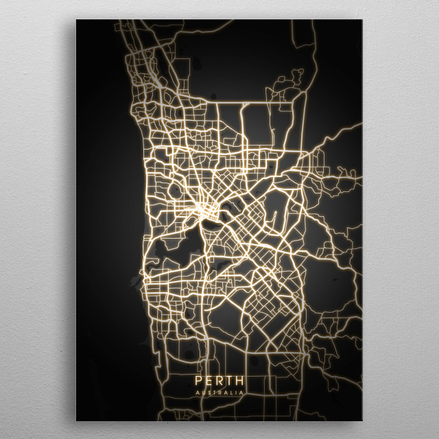 Perth is the capital and largest city of the Australian state of Western Australia It is named after the city of Perth. metal poster