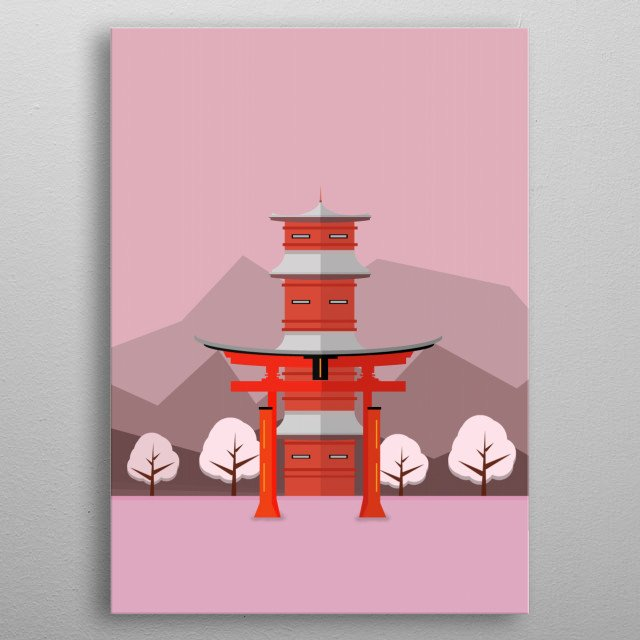 Japanese Arch. metal poster