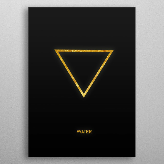 Gold Alchemy Symbol: Water metal poster